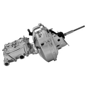 "Tuff Stuff Brake Booster/Master Cylinder Set 2126NA; Chrome 9"" Single Diaphragm"