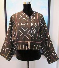 Karen Wilkinson Santa Fe Textile Artist Kuba Mud Cloth Jacket OOAK Sz M/L