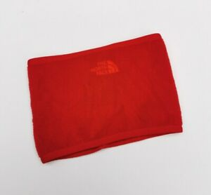 The North Face Neck Gaiter Snood Scarf Neck Warmer Red Fleece One Size Authentic