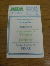 07/09/1987 Cricket Scorecard: Yorkshire v Hampshire [At Scarborough]. Bobfrankan