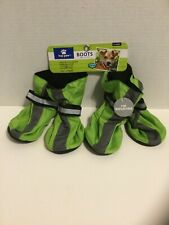 Dog Boots Top Paw XLARGE GREEN Reflective, adjustable, Water resistant,rubberSOL