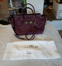 Coach Swagger Carryall Burgundy Handbag Ships in 24 hours!