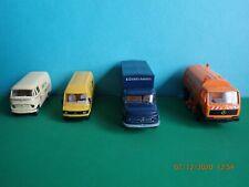 4 Modellautos H0, verschiedene Mercedes LKW und Transporter, Fa. Brekina, Wiking