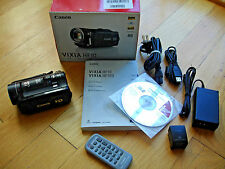 Canon Vixia HF10 HD Camcorder Remote Software Manual AC USB Cables Box SD HF 10