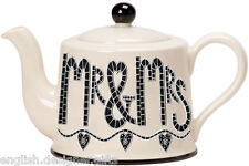 NEW Moorland Mr & Mrs Teapot Tea pot - Gift Boxed - Wedding Anniversary gift