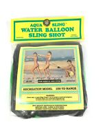 Aqua Sling Water Balloon Sling Shot New Vintage New In Package