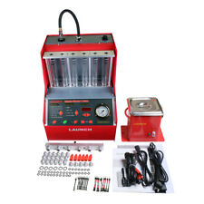Launch 6 cylinder CNC602A Ultrasonic FUEL Injector Cleaner Tester English Panel