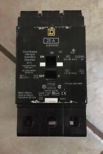 New ListingSquare D Circuit Breaker 25 Amp 480Y / 277V 3 Pole Model: Ejb34025