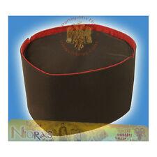 Orthodox Clerics Hat Kalpaki -B- Black Fabric with Red Linnen Made in Greece