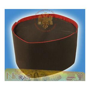 Orthodox Clerics Hat Kalpaki -B- Black Fabric & Red Linnen Priesterhut Birett