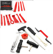11PC INTERIOR WEDGE INSTALLER PRY TOOL & 7PC AUTO WINDSHIELD GLASS REMOVAL SET