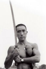 Yukio Mishima Japanese samurai with katana Antique Soldier Photo 4x6 inch I