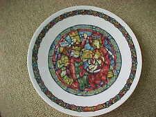 D'Arceau-Limoges Noel Vitrail Plate - Three Kings Offering Gifts to Baby Jesus