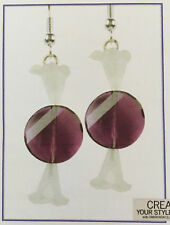 Jilly Bead Crystalmas Candy Earrings Jewelry Making Kit Purple