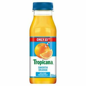 Tropicana Smooth Orange Juice 250ml Price Marked £1 x 8 Cafe Takeaway Catering