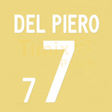 Name + Number Set Printing Del Piero #7 2002 world cup Italy , home , white