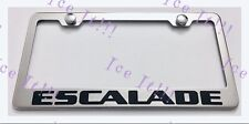 CADILLAC ESCALADE Stainless Steel License Plate Frame Rust Free W/ Bolt Caps
