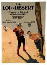 MGM WESTERN 1926 LA LOI DU DESERT AFFICHE ENTOILEE