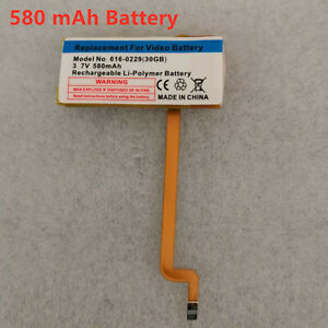 5 pieces 580 mAh battery for IPod Classic 6 7th Gen 80/120/160GB Video 30GB🔥