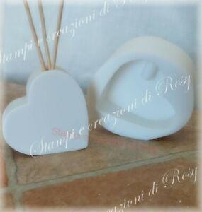 Stampo diffusore profumatore ambiente cuore in silicone per bomboniere