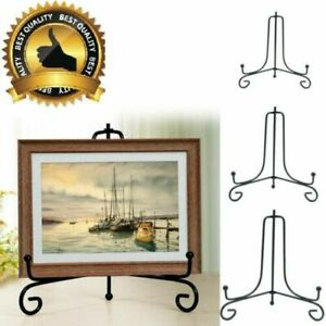 """4""""/6""""/8"""" Plate Bowl Classic Display Stand Iron Easel Photo Frame Book Holder"""