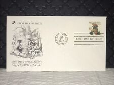 1977 CHRISTMAS First Day Issue Postal Cover, NF, Ship Free