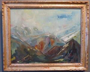Peter Bishop MID 20thC ORIGINAL Impressionist Oil PAINTING Scottish Highlands