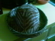 ERIC JAVITS BROWN TAN TIGER PRINT WOOL FUNKY SQUISHEE VELOUR BOHO CHIC NWT HAT