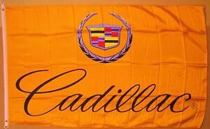 Cadillac Gold Premium Flag 3' x 5' Indoor Outdoor Automotive Banner (USA Seller)