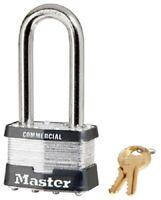 """Master Lock, 2"""", Laminated Padlock, With 2-1/2"""" Long Shackle"""