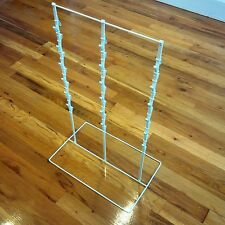 "3 Round Strip 6"" Apart 39 Chip Potato Chip Display Rack in White"