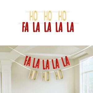 Ho Ho Ho   Fa La La Christmas Letter Banner Party Decoration
