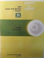 John Deere 430 Diesel Lawn Garden Tractor Parts Manual Catalog PC-1997 1984-up