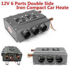 6-Port Double Side Iron Compact Heater Heating Fan w/ Speed Switch 12V Universal