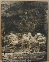 Otfried Mahnke: Informelle Komposition eines Mauerbildes