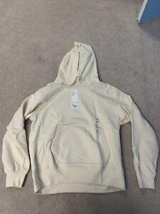 Uniqlo U Wide-Fit Long Sleeve Hooded Sweatshirt Pullover Hoodie Natural 30 M