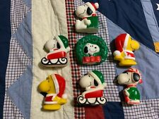 Snoopy (Peanuts) Christmas Squeaky Dog Toys or Decorations Collection - 7 Total
