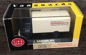 Vanguards 1/64 Scale VA6007 Ford Tames Trader Van - Sainsbury's - Boxed