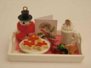 Dolls house food: Christmas  sweet treats tray -By Fran