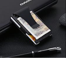 Carbon Fiber Mini Slim Wallet Money Clip Metal Aluminum Business Case Protector