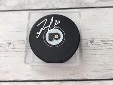 Taylor Leier Signed Autographed Philadelphia Flyers Hockey Puck a