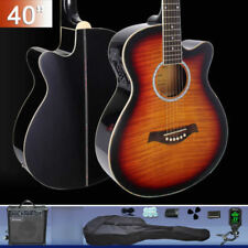 40-inch Cutaway Electric Acoustic Guitar with Amp Guitar Tuner Bag