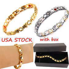 Women Stainless Steel Magnetic Bracelet BIO Therapy Arthritis Pain Relief Health