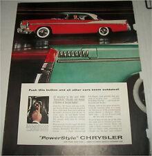 1956 Chrysler 2 dr ht car ad