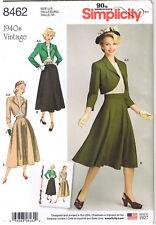 Vtg 40s Back Button Top Circle Skirt Bolero Jacket Sewing Pattern 6 8 10 12 14