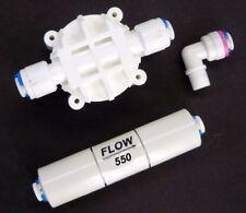 Reverse Osmosis Check Valve, Flow Restrictor 550 ML & Automatic Shut off valve