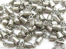 "HEAVY VINTAGE STERLING WEDDING BELL ROSARY NECKLACE 30.5"" 26+ GMS NO LONGER MADE"