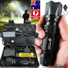 Powerful 450000LM Zoomable Tactical T6 LED Flashlight Torch Work Light Headlamp