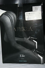 La Perla ~ ELLE ~ tulle seamed tights cotton  BNWT Large size 3 black