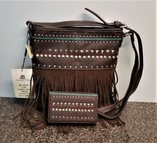 Montana West Concealed Carry Crossbody Bag Matching Wallet Fringe Country Purse